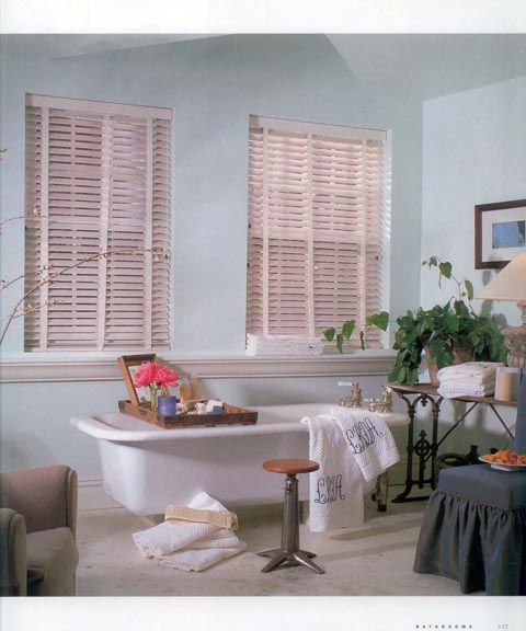 House Beautiful Bathrooms With Window Treatments